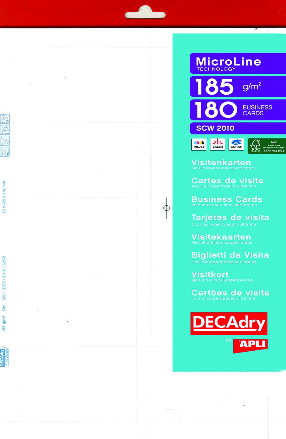 Fabricant APLI AGIPA Logiciel Cartes De Visite Decadry Awesome Outstanding